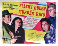 Ellery Queen and the Murder Ring - Titel Lobbykaart