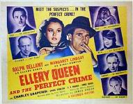 Ellery Queen and the Perfect Crime - Titlecard for the set of eight lobbycards
