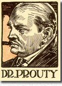 "Dr.Prouty as depicted by Frank Godwin for a ""Redbook"" edition of ""The Chinese Murder Mystery""."