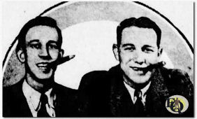 "As early as 1930, Reed (right billed as Teddy Bergman) he co-starred with Herbert Polesie (L) in ""Henry and George"", a CBS program that featured minute dramas, popular laughmakers interspersed with dance music selections."