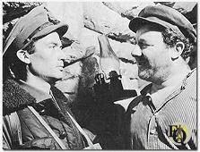 "Gregory Peck & Alan Reed in ""Days of Glory"" (1944)."