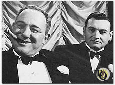 "Alan Reed and Frankie Laine in ""He Laughed Last"" (1956)."