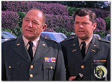 "In a scene from the 1967 ""Batman"" episode ""Penguin Sets a Trend""  we see Major Beasley played by Bob Hastings (R), who would later go on to voice Gordon in ""Batman: The Animated Series"" and General MacGruder played by Alan Reed (L)."