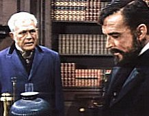 An episode from the TV series Branded called 'The Golden Fleece' with Sydney Smith (Left) as Secretary Richardson and William Bryant as President Ulysses S. Grant  (1960)