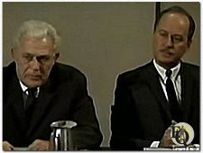 Sydney Smith (L) as Chairman Phillips in 'Judd for the Defense' (1968, episode Square House)