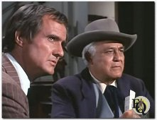 Sydney Smith (right) as Peter Green  in a scene from 'The Survivors' an episode from Bonanza (1968)