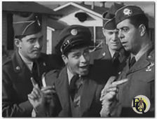 "(From L to R) Dean Martin, Jerry Lewis and Robert Strauss in ""Jumping Jacks"" (1952)."