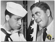 """Sailor Beware"" (1952) Jerry Lewis and Robert Strauss."