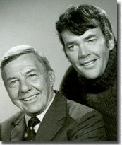 Publicity shot of the 'Dynamic Duo' David Wayne & Jim Hutton