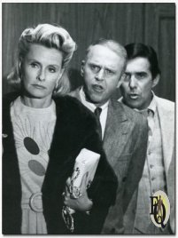Dina Merrill, George Furth, Pat Harrington in Ellery Queen's The Adventure of the 12th Floor Express