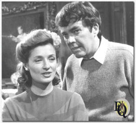 "Ellery Queen( Jim Hutton) considers Paula (Diana Muldaur) one of six suspects in the slaying of her wealthy husband  in ""The Judas Tree"" (NBC Photo)"