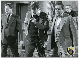 Dick Sargent (Tom Calabrese), Jim Hutton (Ellery Queen), Michael Constantine (Leo Campbell), Sam Gilman (The Judge)