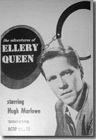 "1954 Advert from ""Fortnight Magazine"" California - The Adventures Of Ellery Queen with Hugh Marlowe, Tuesday at 9:00 PM, KCOP Lucky Channel 13"
