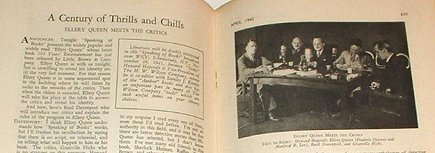 "it had an article called ""A Century of Chills and Thrills, Ellery Queen Meets The Critics"". It included a picture of Howard Haycraft, Dannay and Lee, Davenport and Hicks."
