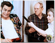 "One of Zuckert's last parts before his death in 1997 was a small one (Miami Dolphins nut job kicker Ray Finkle's father) in ""Ace Ventura: Pet Detective"" (1994)"