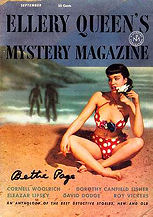 Early covers featured art by Salter and others. As the magazine progressed, photographs were used, including this picture of pinup girl Bettie Page (9/53)